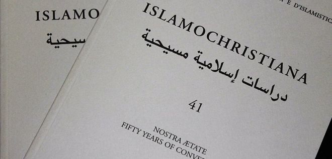 Nostra Ætate. Fifty Years of Conversation: Islamochristiana 41 (2015) has finally been published